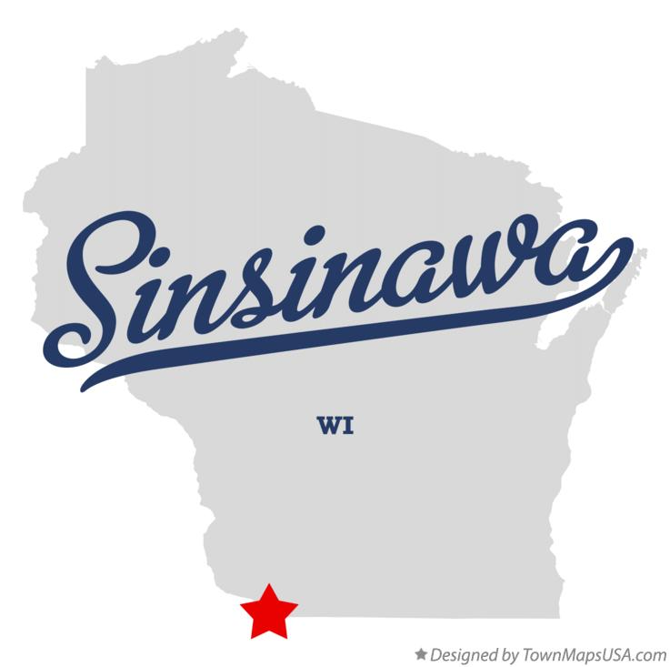 Map of Sinsinawa Wisconsin WI