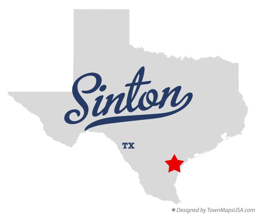 Map of Sinton Texas TX