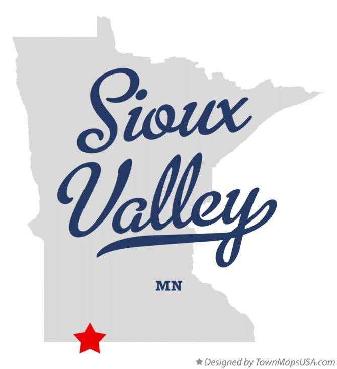 Map of Sioux Valley Minnesota MN