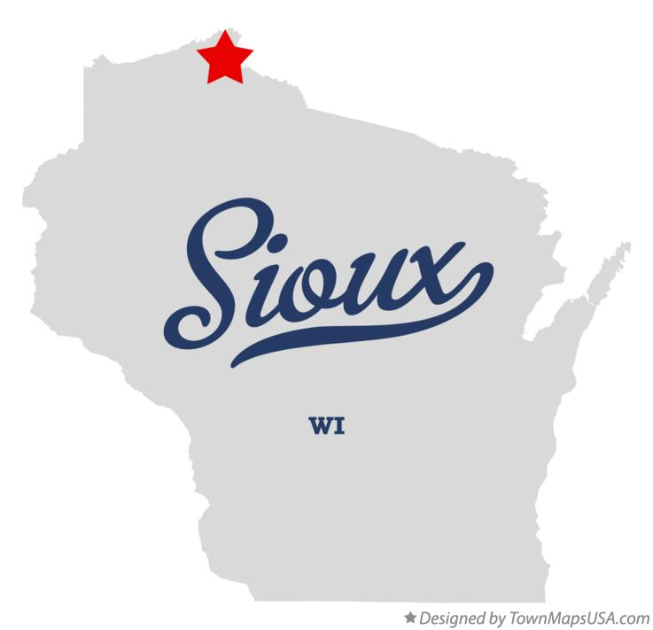 Map of Sioux Wisconsin WI