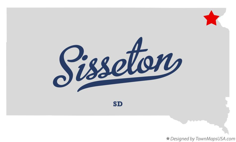 Map of Sisseton South Dakota SD