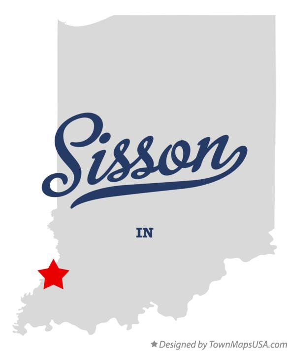Map of Sisson Indiana IN