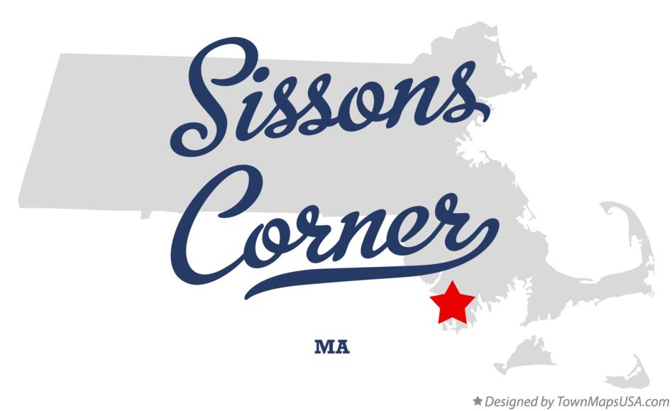 Map of Sissons Corner Massachusetts MA