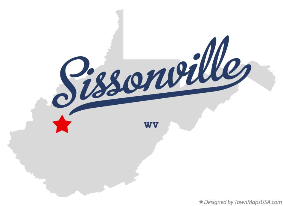Map of Sissonville West Virginia WV