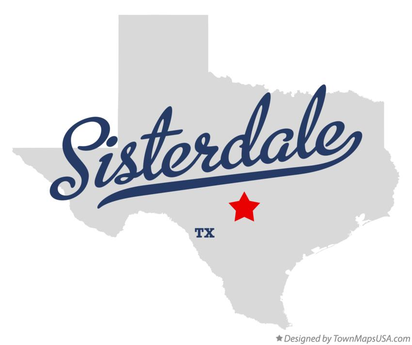 Map of Sisterdale Texas TX