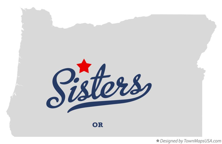 Map of Sisters Oregon OR