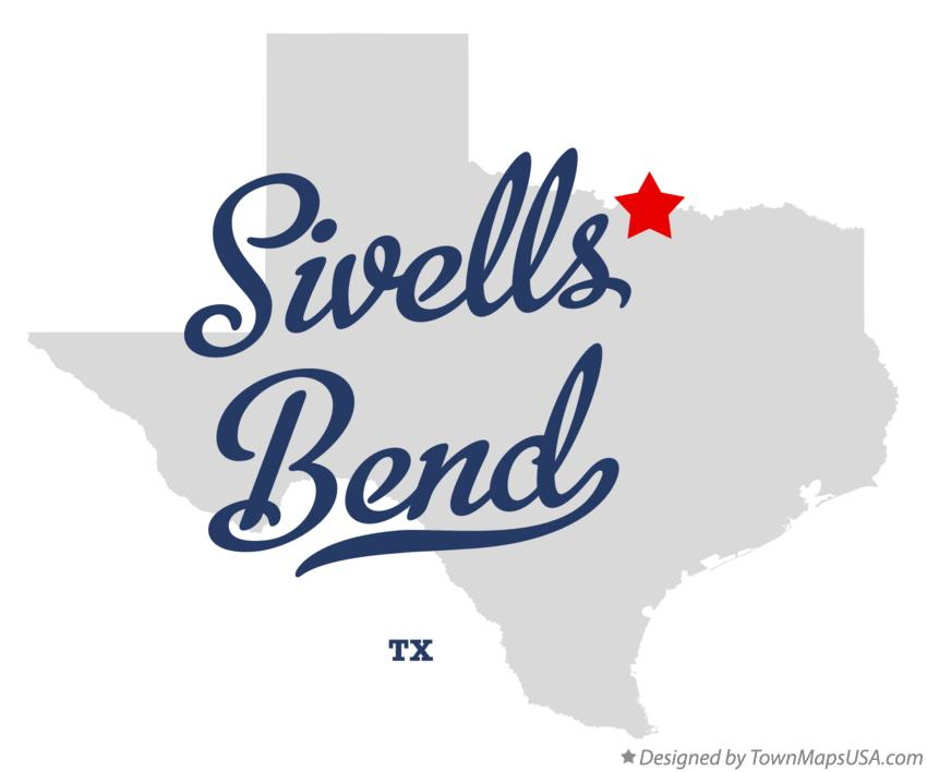 Map of Sivells Bend Texas TX