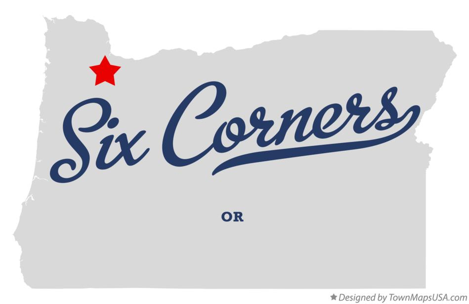 Map of Six Corners Oregon OR