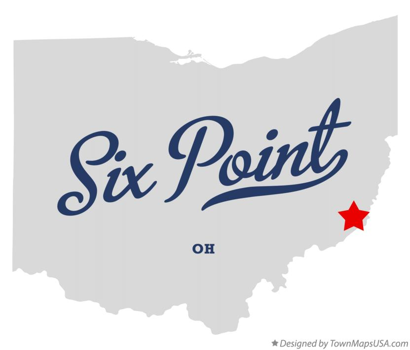Map of Six Point Ohio OH