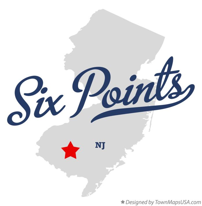 Map of Six Points New Jersey NJ