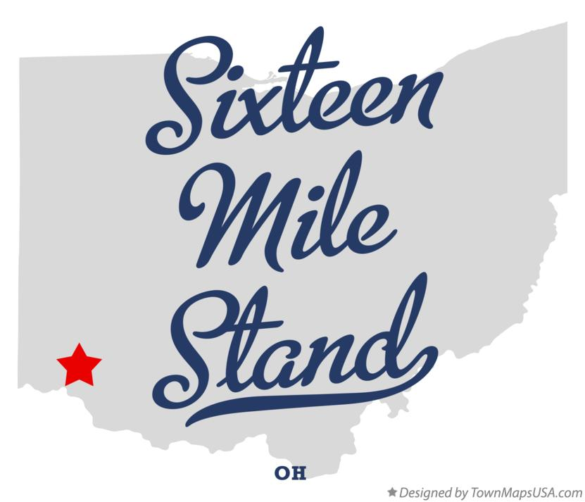 Map of Sixteen Mile Stand Ohio OH