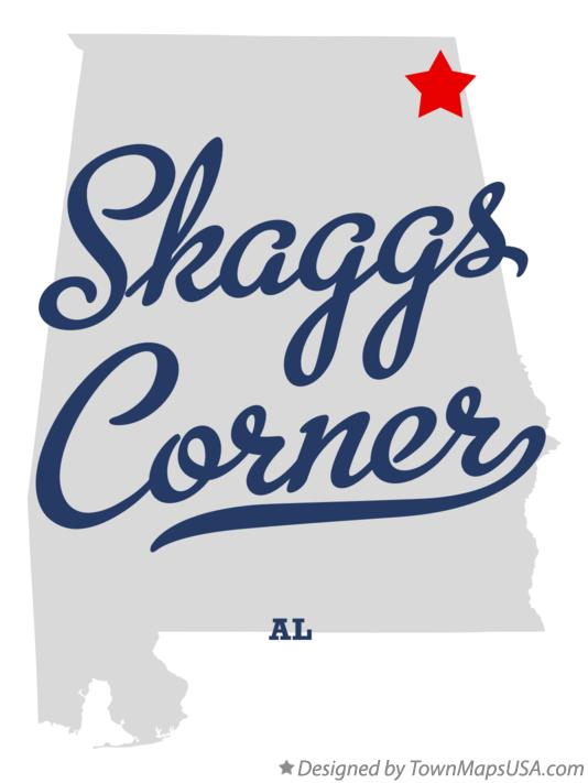 Map of Skaggs Corner Alabama AL