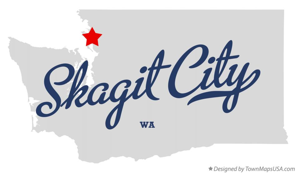 Map of Skagit City Washington WA