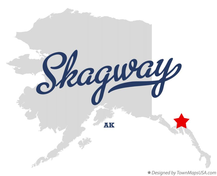 Map of Skagway, AK, Alaska