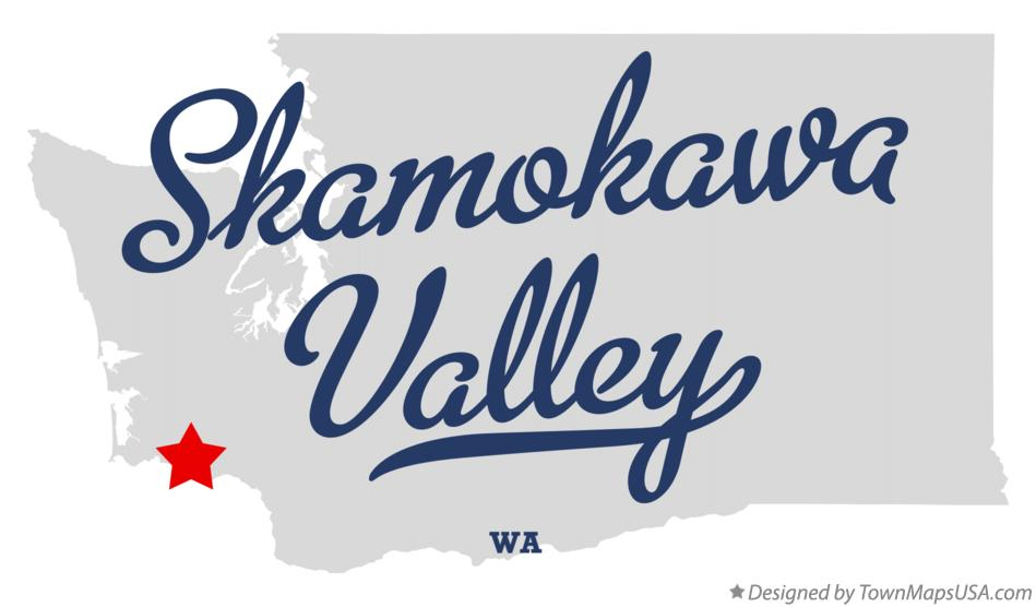 Map of Skamokawa Valley Washington WA