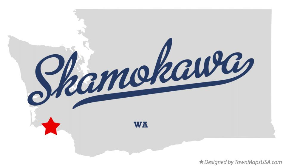 Map of Skamokawa Washington WA