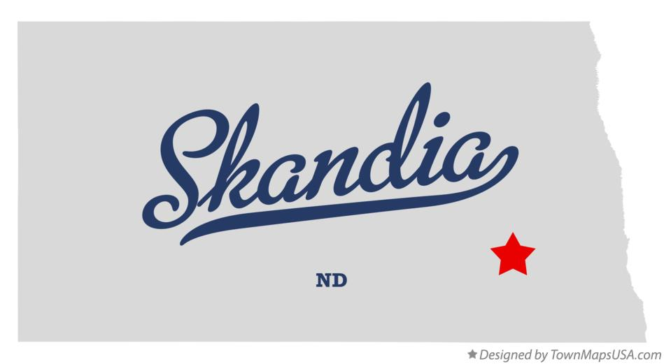 Map of Skandia North Dakota ND