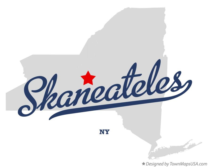 Map of Skaneateles New York NY