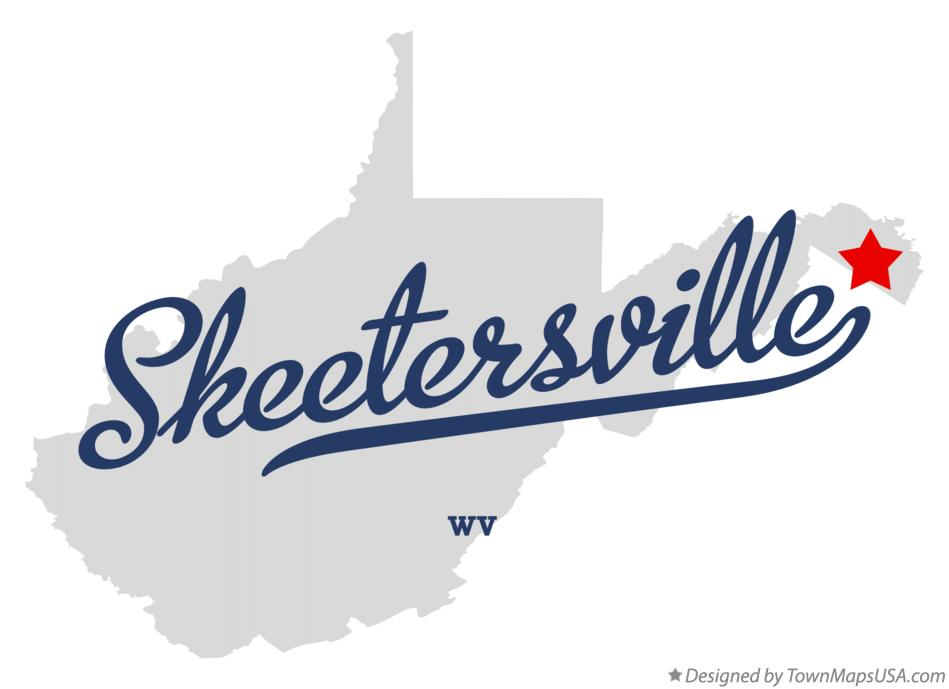 Map of Skeetersville West Virginia WV