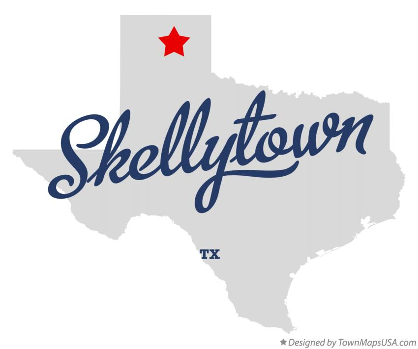 Map of Skellytown Texas TX