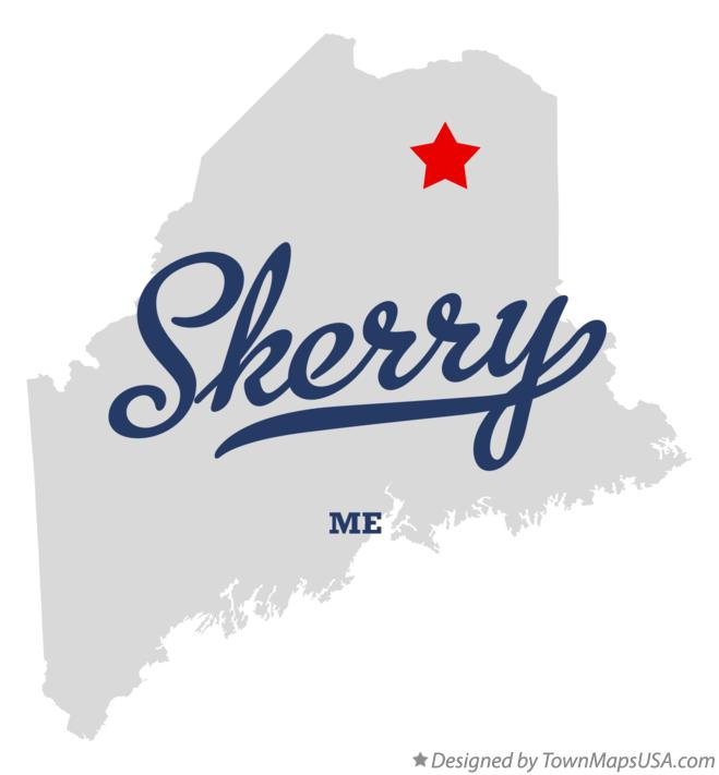 Map of Skerry Maine ME