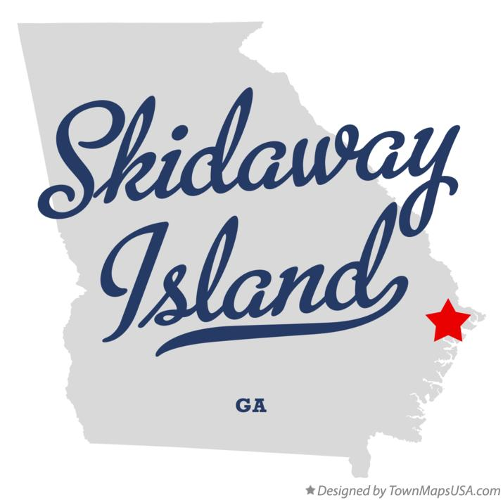 Map of Skidaway Island Georgia GA