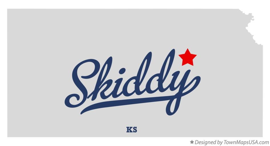 Map of Skiddy Kansas KS
