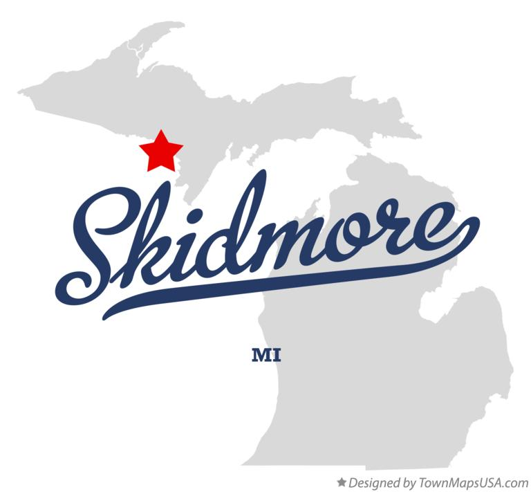 Map of Skidmore Michigan MI