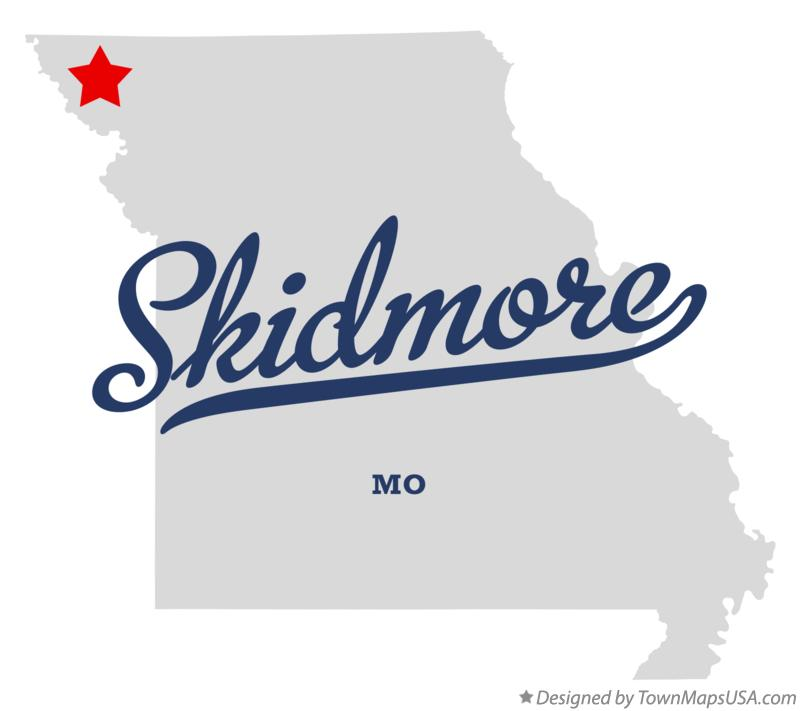 Map of Skidmore Missouri MO