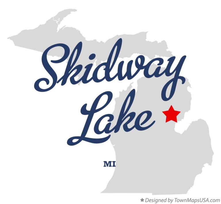Map of Skidway Lake Michigan MI