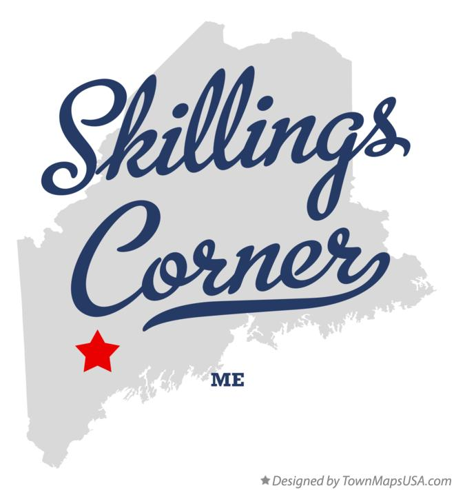Map of Skillings Corner Maine ME