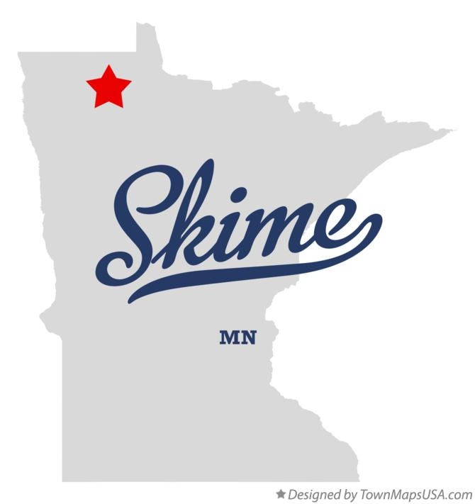 Map of Skime Minnesota MN
