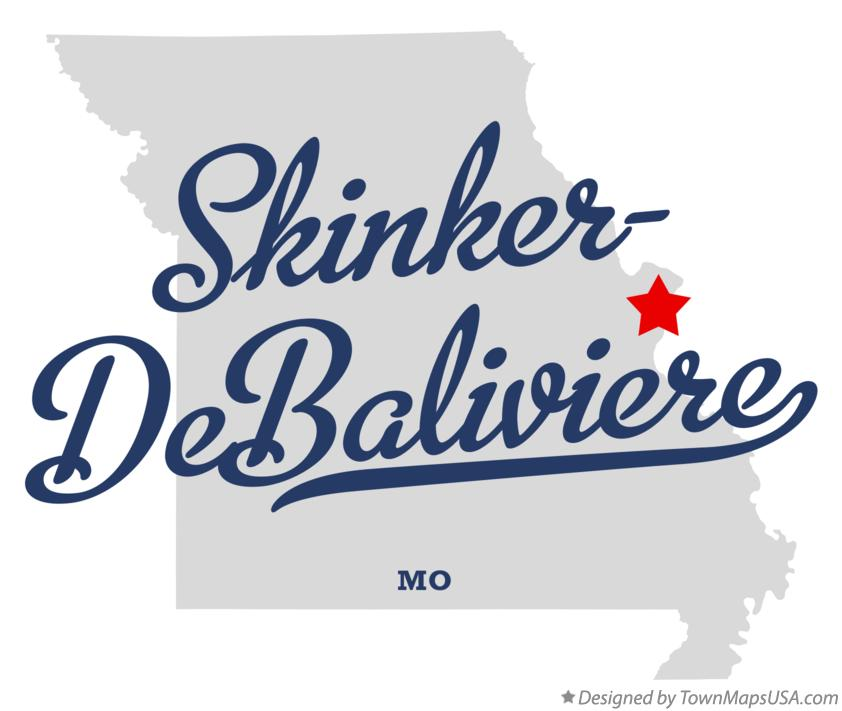 Map of Skinker–DeBaliviere Missouri MO
