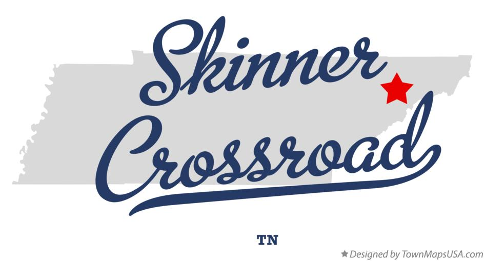 Map of Skinner Crossroad Tennessee TN