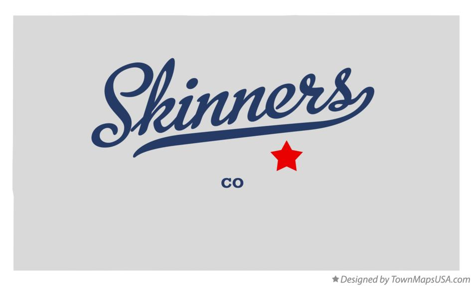 Map of Skinners Colorado CO