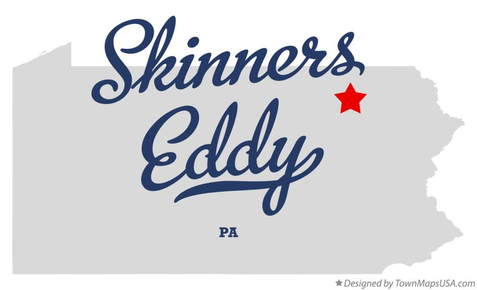 Map of Skinners Eddy Pennsylvania PA