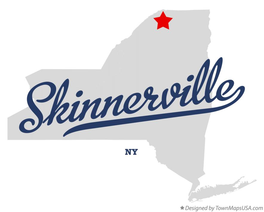 Map of Skinnerville New York NY