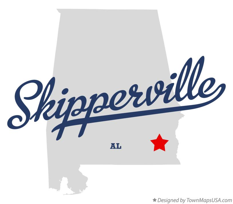 Map of Skipperville Alabama AL
