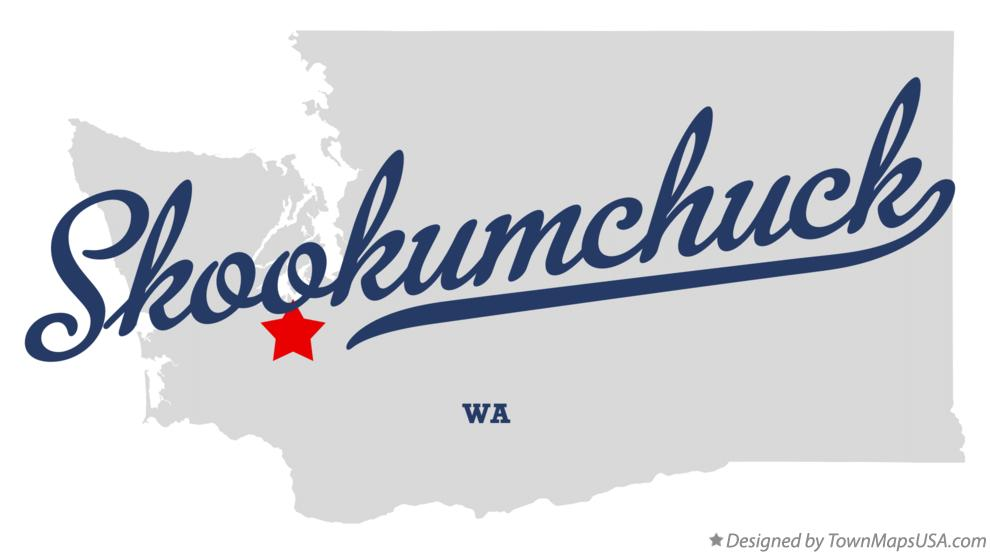 Map of Skookumchuck Washington WA