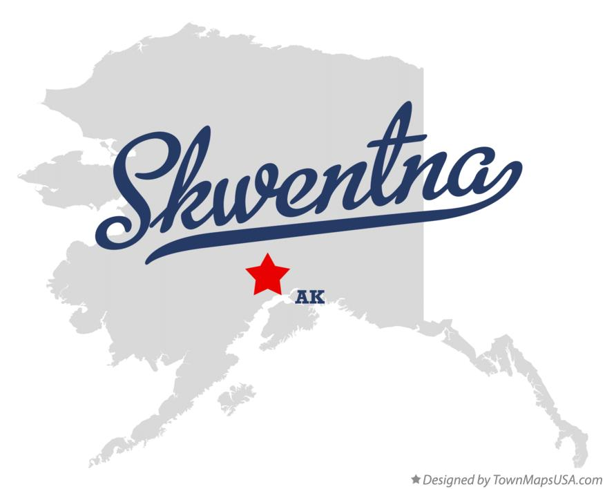Map of Skwentna Alaska AK