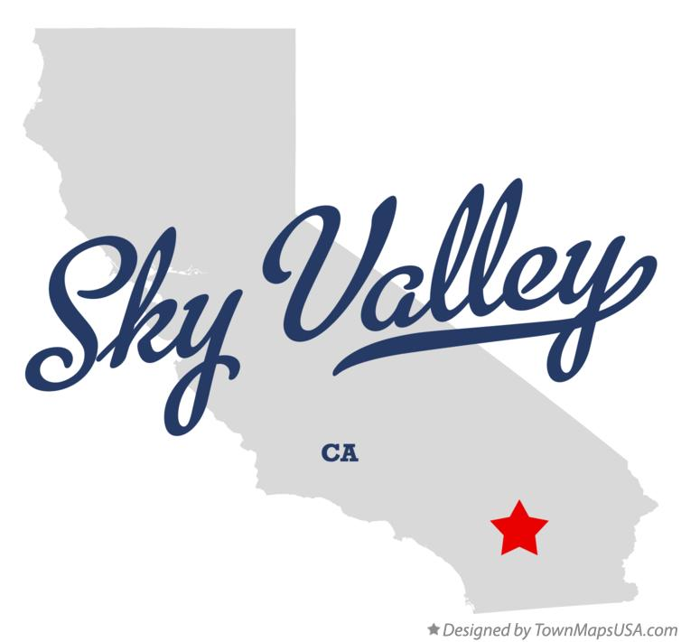 Map of Sky Valley California CA