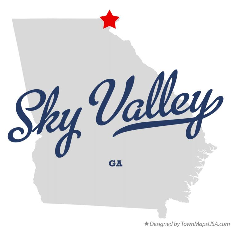 Map of Sky Valley Georgia GA