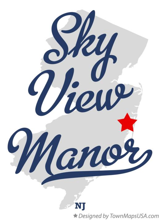 Map of Sky View Manor New Jersey NJ