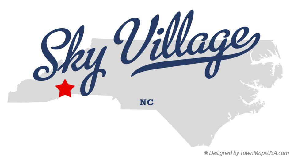 Map of Sky Village North Carolina NC