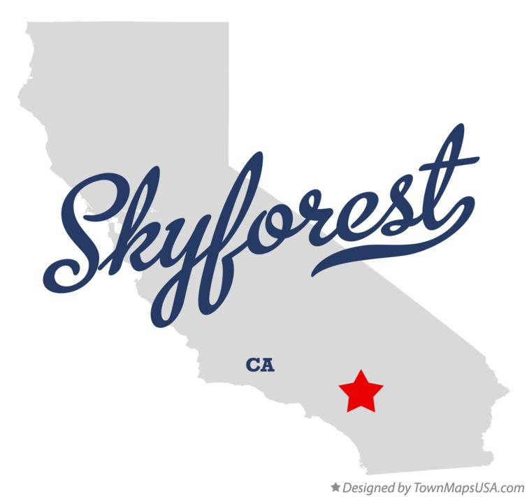 Map of Skyforest California CA