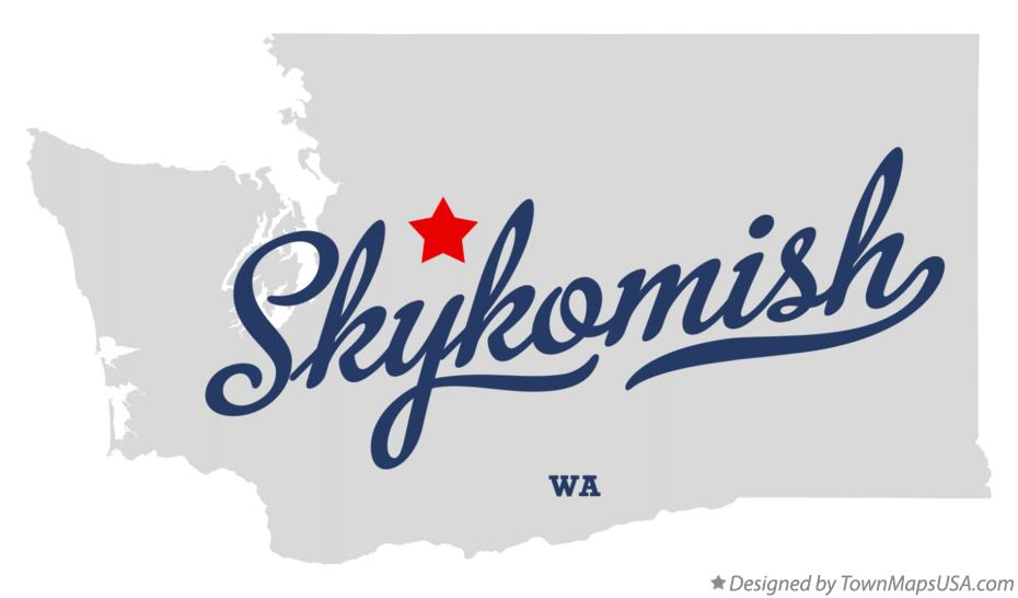 Map of Skykomish Washington WA