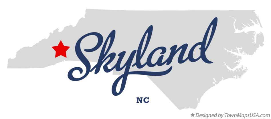 Map of Skyland North Carolina NC