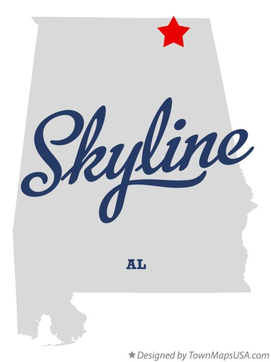 Map of Skyline Alabama AL