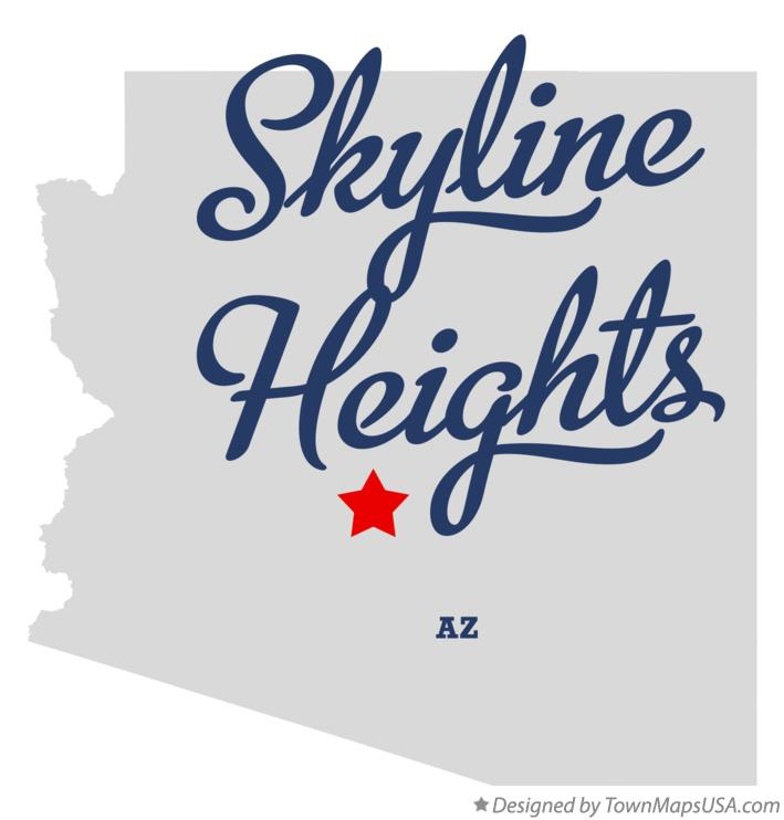 Map of Skyline Heights Arizona AZ