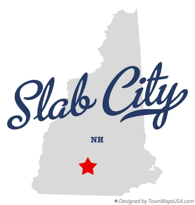 Map of Slab City New Hampshire NH